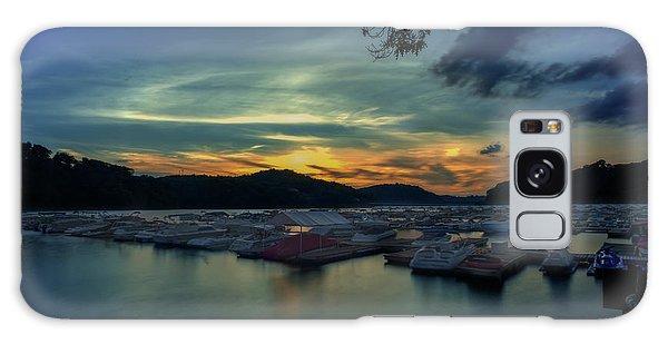 Sunset On Cheat Lake Galaxy Case