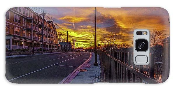 Sunset On Eliot St Milton Ma Galaxy Case