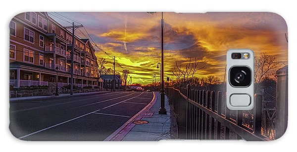 Sunset On Eliot St Milton Ma Galaxy Case