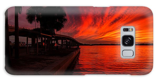Sunset On Fire Galaxy Case