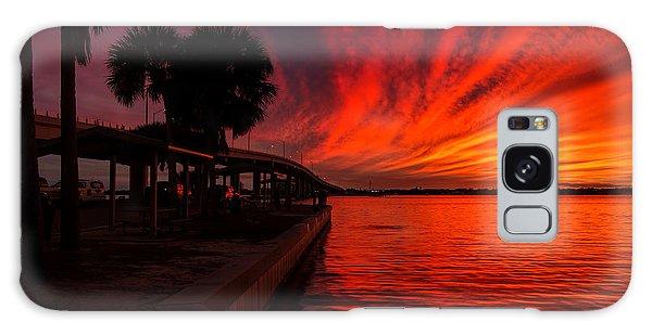 Sunset On Fire Galaxy Case