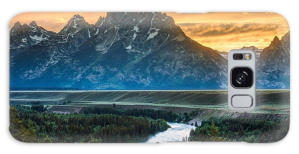 Teton Galaxy Case - Sunset On Grand Teton And Snake River by Gary Whitton