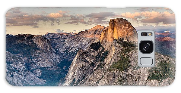 Sunset On Half Dome Galaxy Case