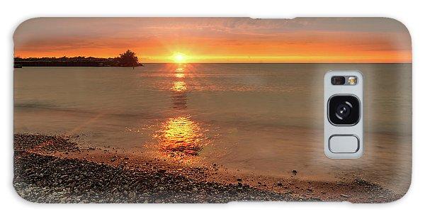 Sunset On Huron Lake Galaxy Case