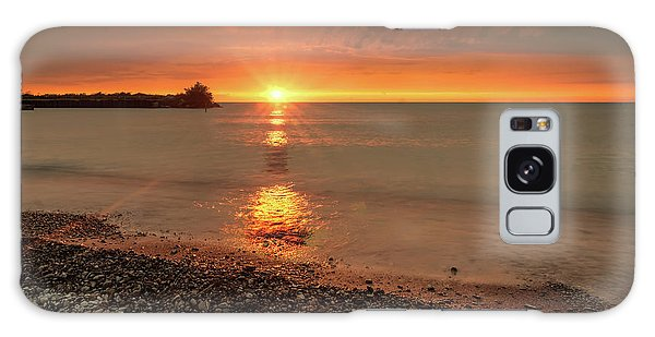 Sunset On Huron Lake Galaxy Case