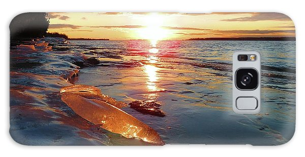 Sunset On Ice Galaxy Case