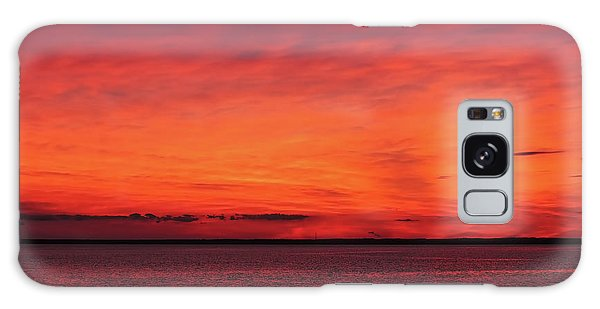 Sunset On Jersey Shore Galaxy Case
