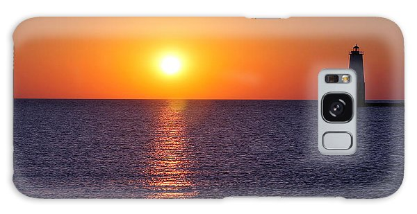 Sunset On Lake Michigan Galaxy Case