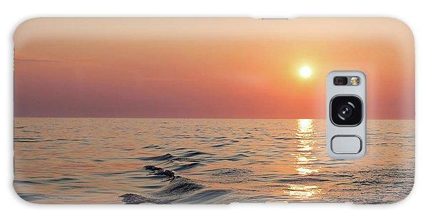 Sunset On Lake Michigan Galaxy Case