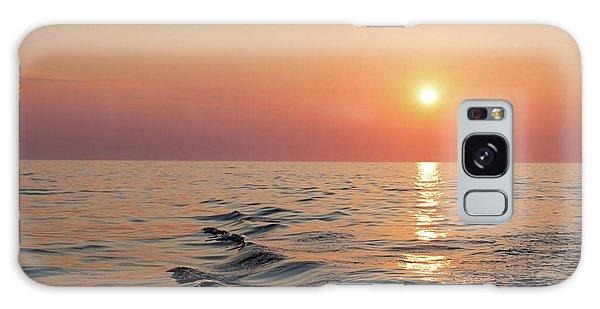 Sunset On Lake Michigan Galaxy Case by Melanie Alexandra Price