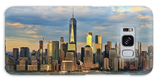 Sunset On Lower Manhattan Galaxy Case