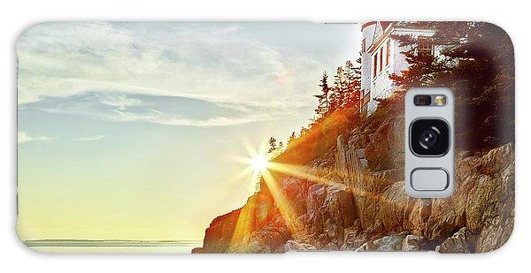 Ocean Sunset On Maine's Bass Harbor Lighthouse Galaxy Case