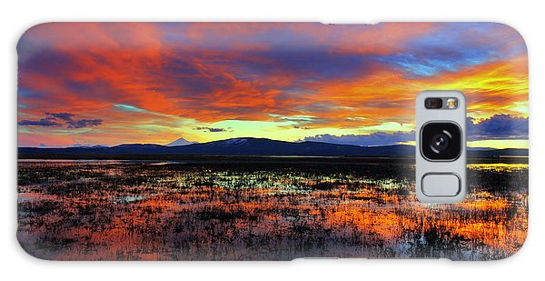 Sunset On  Marshes  Galaxy Case by Irina Hays