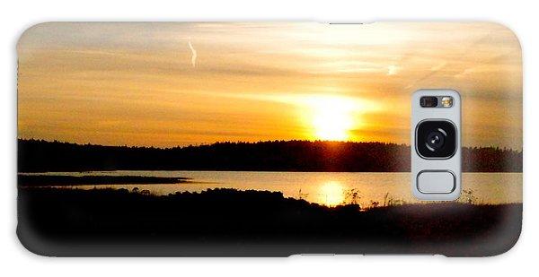 Sunset On Morrison Beach Galaxy Case
