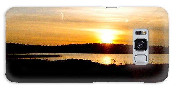 Sunset On Morrison Beach Galaxy Case by Jason Lees