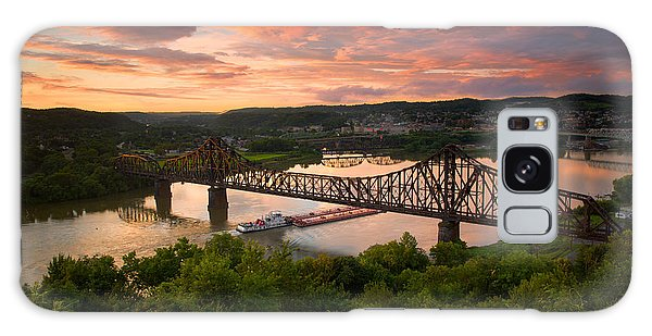 Sunset On Ohio River  Galaxy Case