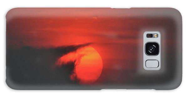 Sunset On Plum Island Galaxy Case by Nancy Landry