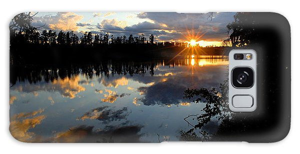 Sunset On Polly Lake Galaxy Case