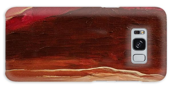 Sunset On Red Mountain Galaxy Case