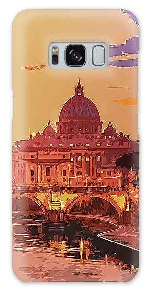 Sunset On Rome The Eternal City Galaxy Case