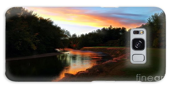 Sunset On Saco River Galaxy Case