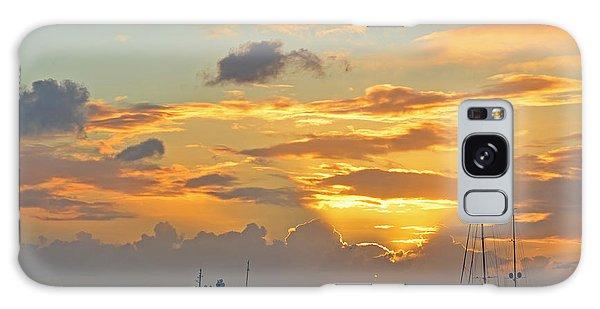 Sunset On Simpon Bay Saint Martin Caribbean Galaxy Case