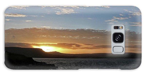 Sunset On The Antrim Coast Road. Galaxy Case