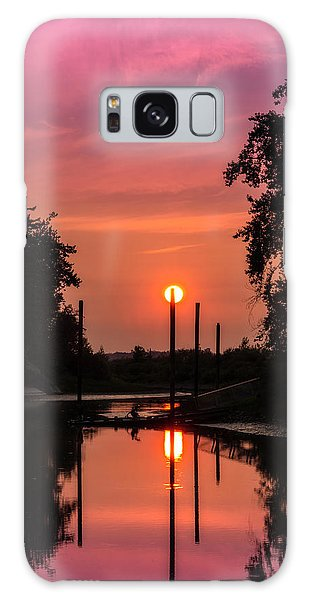 Sunset On The Bay Galaxy Case
