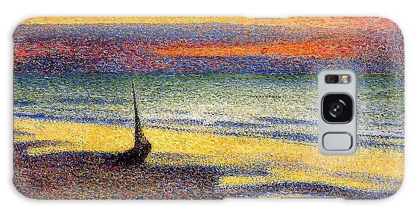 Sunset On The Beach 1891 Galaxy Case