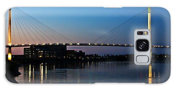 Sunset On The Bob Kerry Pedestrian Bridge Galaxy Case