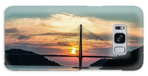 Sunset On The Bridge Galaxy Case