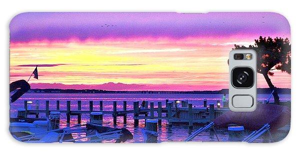 Sunset On The Docks Galaxy Case