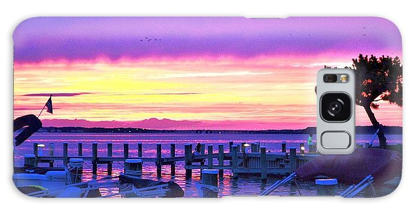 Sunset On The Docks Galaxy Case