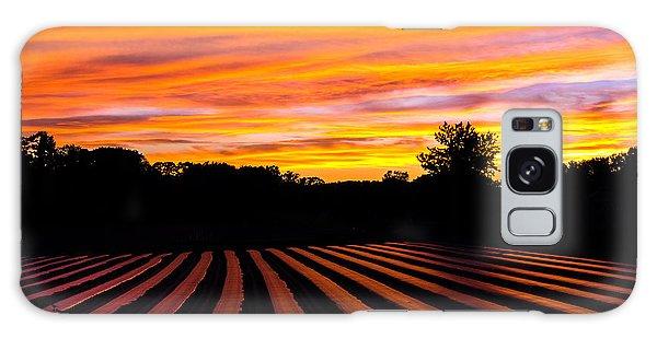 Sunset On The Farm Galaxy Case