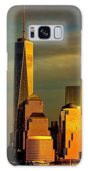 Sunset On The Financial District Galaxy Case