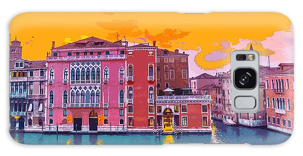 Sunset On The Grand Canal Venice Galaxy Case