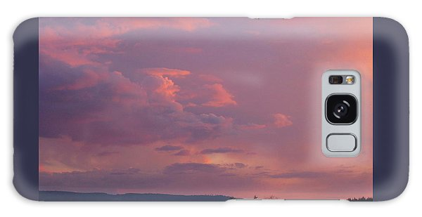 Sunset On The Hood Canal Galaxy Case
