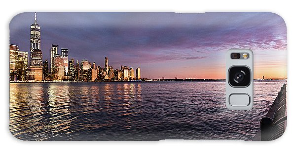 Sunset On The Hudson River Galaxy Case