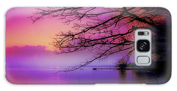 Sunset On The Lake Galaxy Case