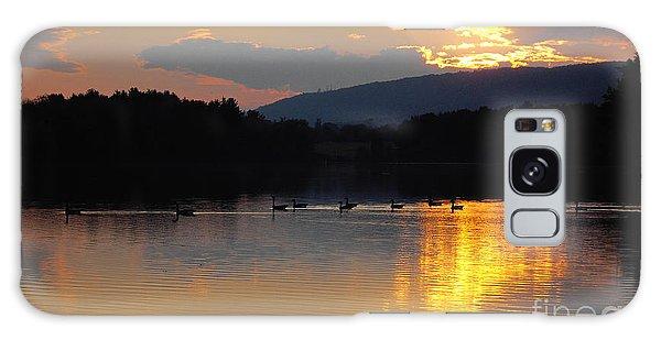 Sunset On The Lake Galaxy Case by Vilas Malankar