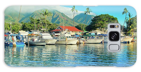 Sunset On The Marina Lahaina Harbour Maui Hawaii Galaxy Case
