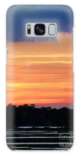Sunset On The Marsh Galaxy Case