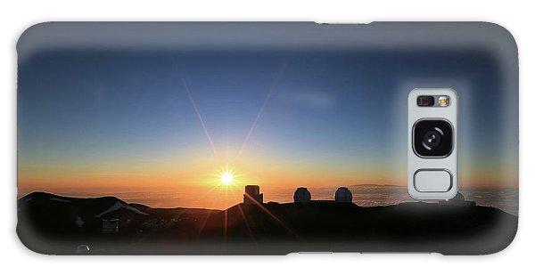 Sunset On The Mauna Kea Observatories Galaxy Case