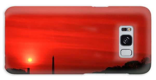 Sunset On The National Mall Washington Dc Galaxy Case