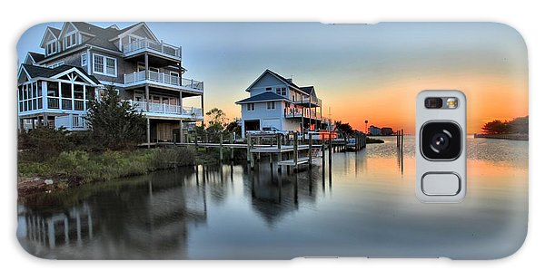 Sunset On The Obx Sound Galaxy Case by Adam Jewell