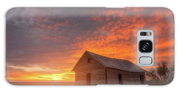 Galaxy Case featuring the photograph Sunset On The Prairie  by Darren White