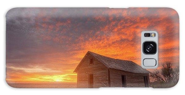 Sunset On The Prairie  Galaxy Case by Darren White
