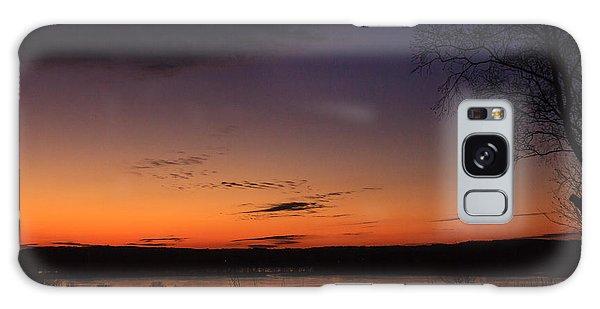 Sunset On The River Galaxy Case by Joni Eskridge