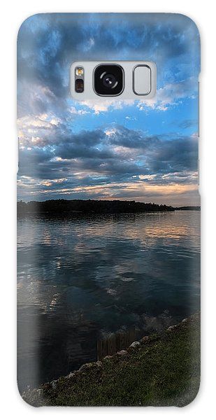Sunset On The River Galaxy Case