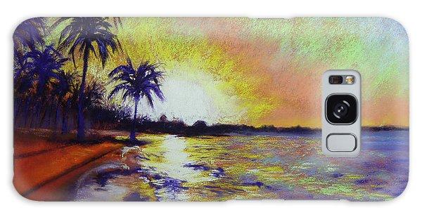 Sunset On The Sea Galaxy Case